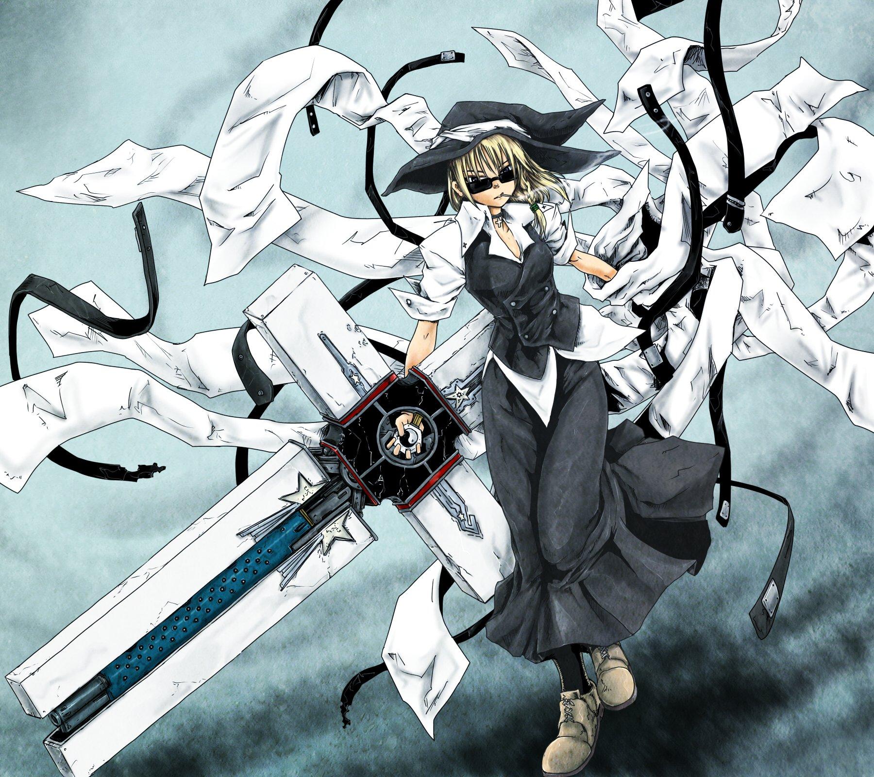 Touhou Trigun Kirisame Marisa Nicholas D  Wolfwood crossovers 1800x1600
