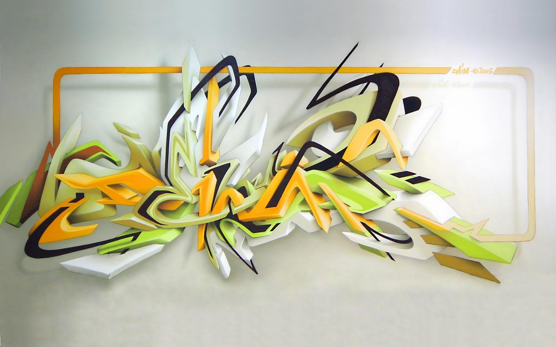 Graffiti wallpaper desktop 3d wallpapersafari - Graffitis en papel ...