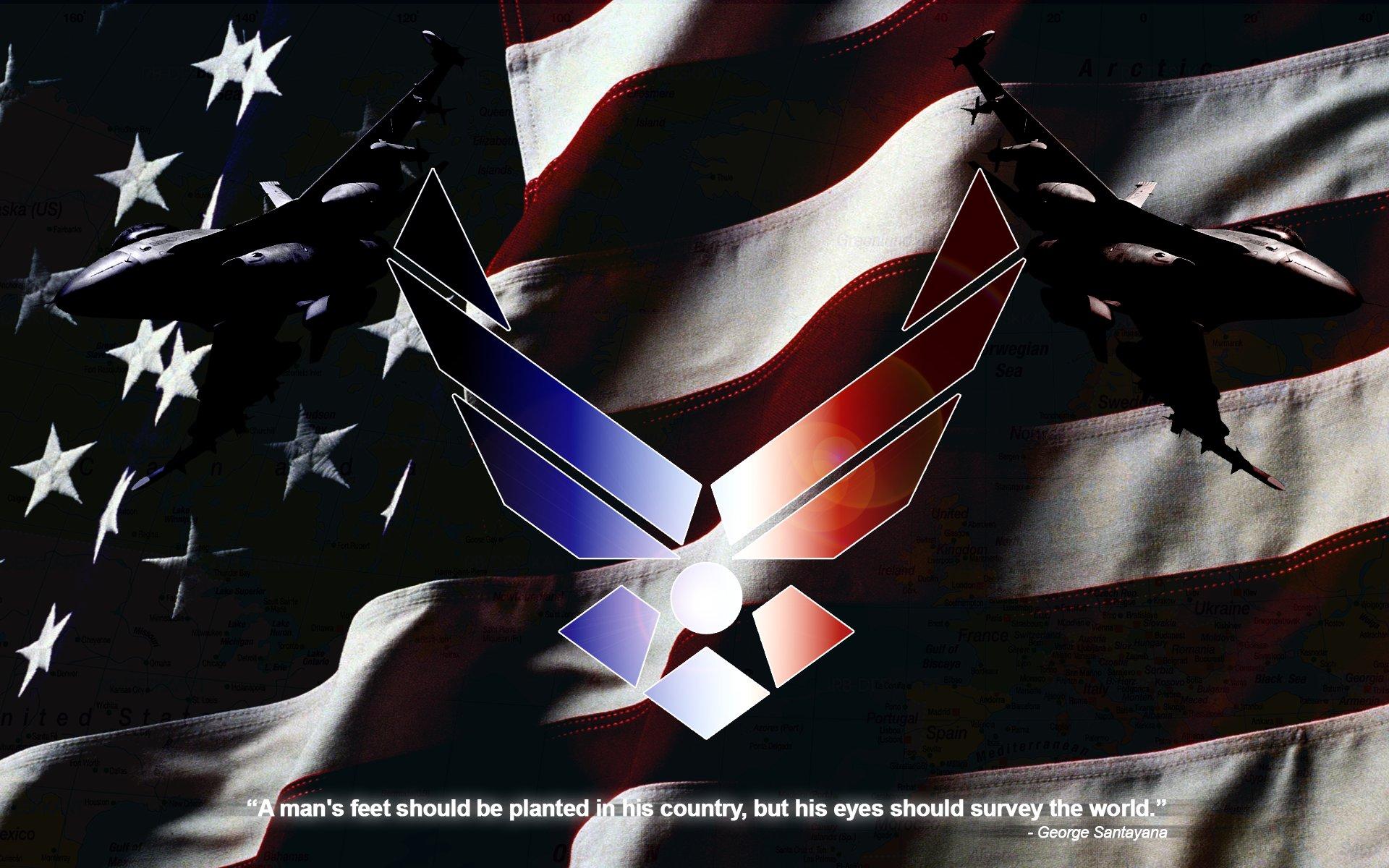 US Air Force Wallpaper by BadWolfArt 1920x1200