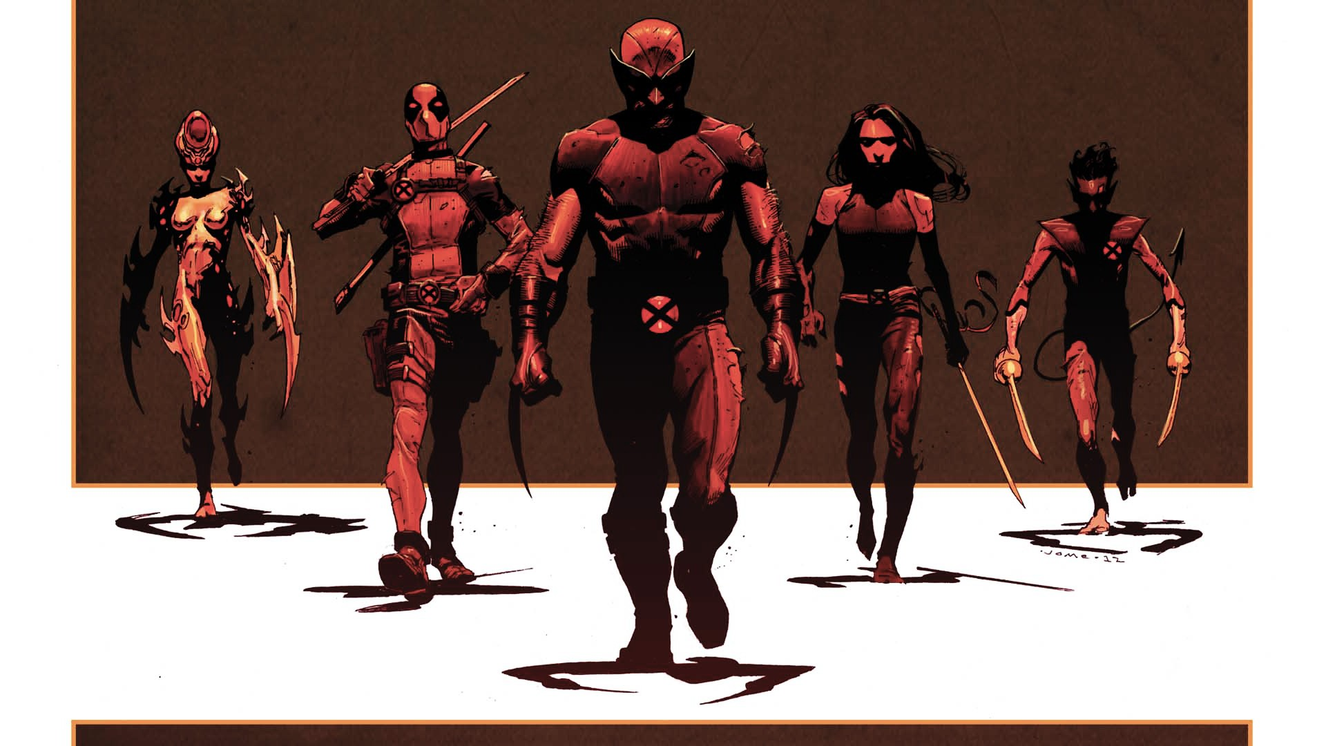 X Men Wolverine Deadpool Wade Wilson Psylocke X Force Nightcrawler 1920x1080
