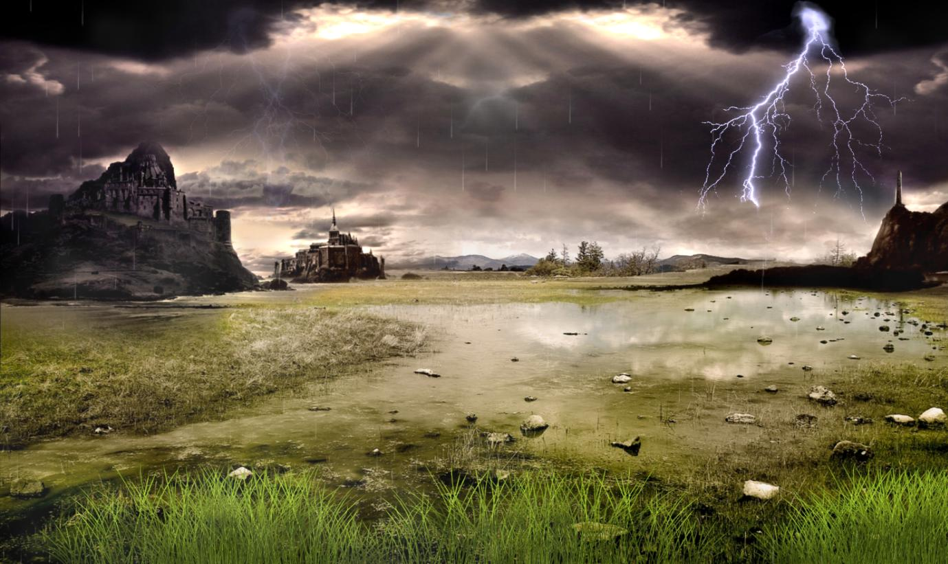 Download Thunderstorm Field Animated Wallpaper 1379x821