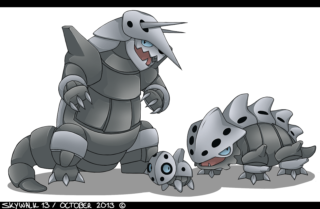 FanArt   Pokemon   AronLaironAggron by SkyWalk13 on 1108x723