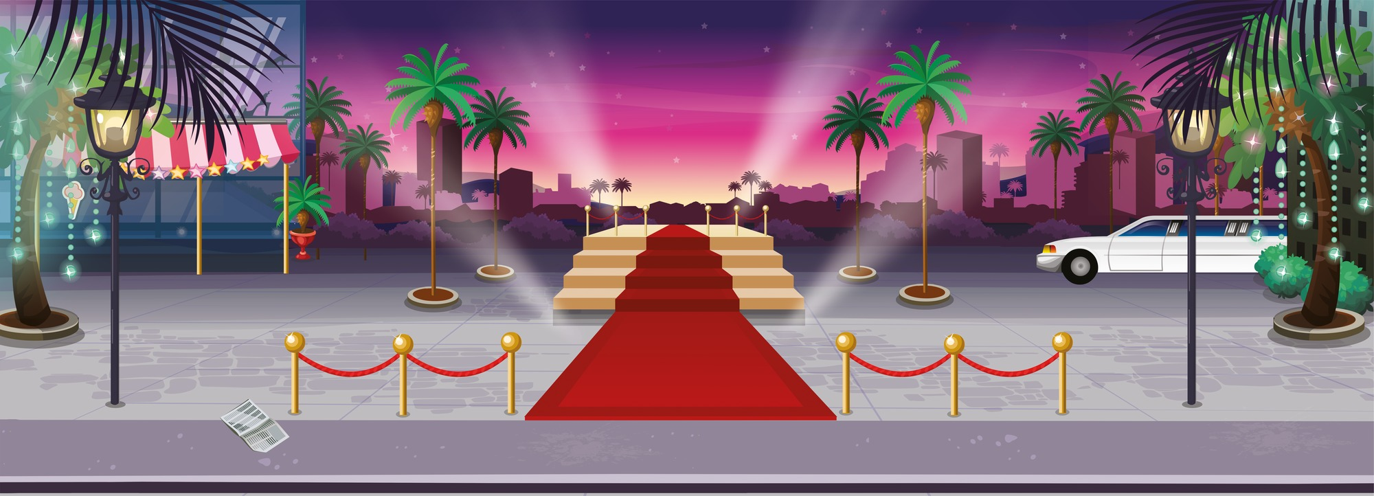 The Red Carpet   Landscape Wall Mural   Wallsaucecom 2000x722