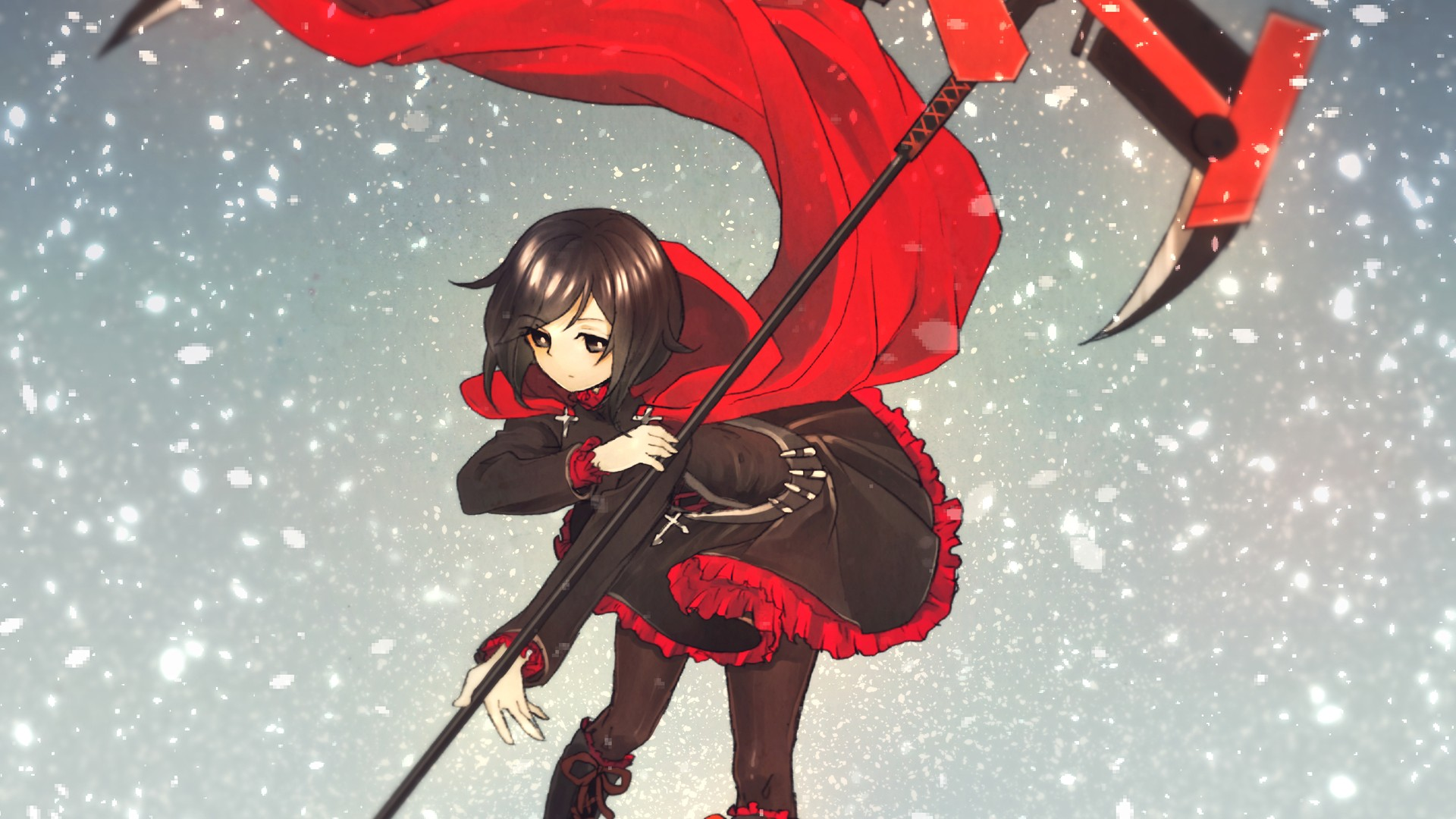 Ruby Rose RWBY Monty Oum wallpaper background 1920x1080