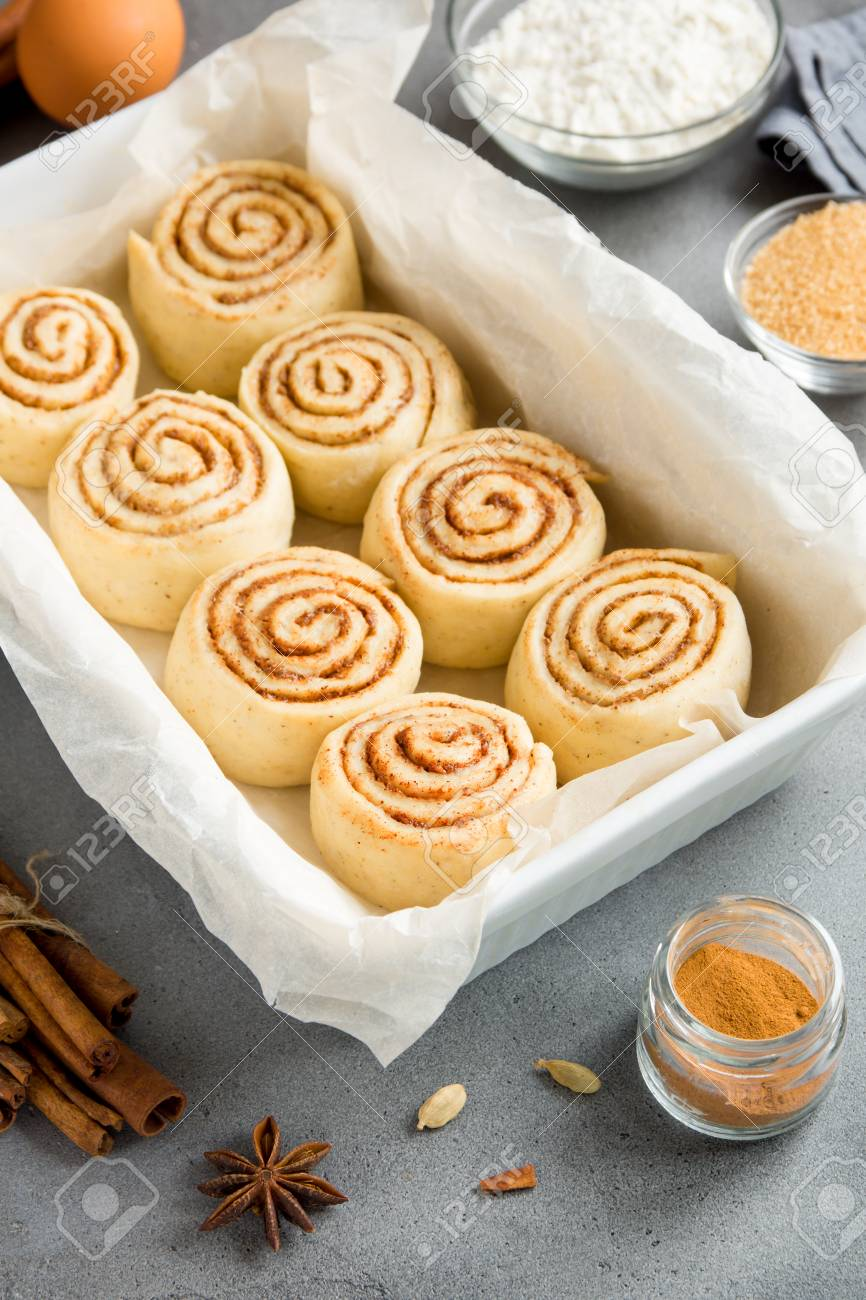 Cinnamon Rolls Or Cinnabon Homemade Recipe Raw Dough Preparation 866x1300