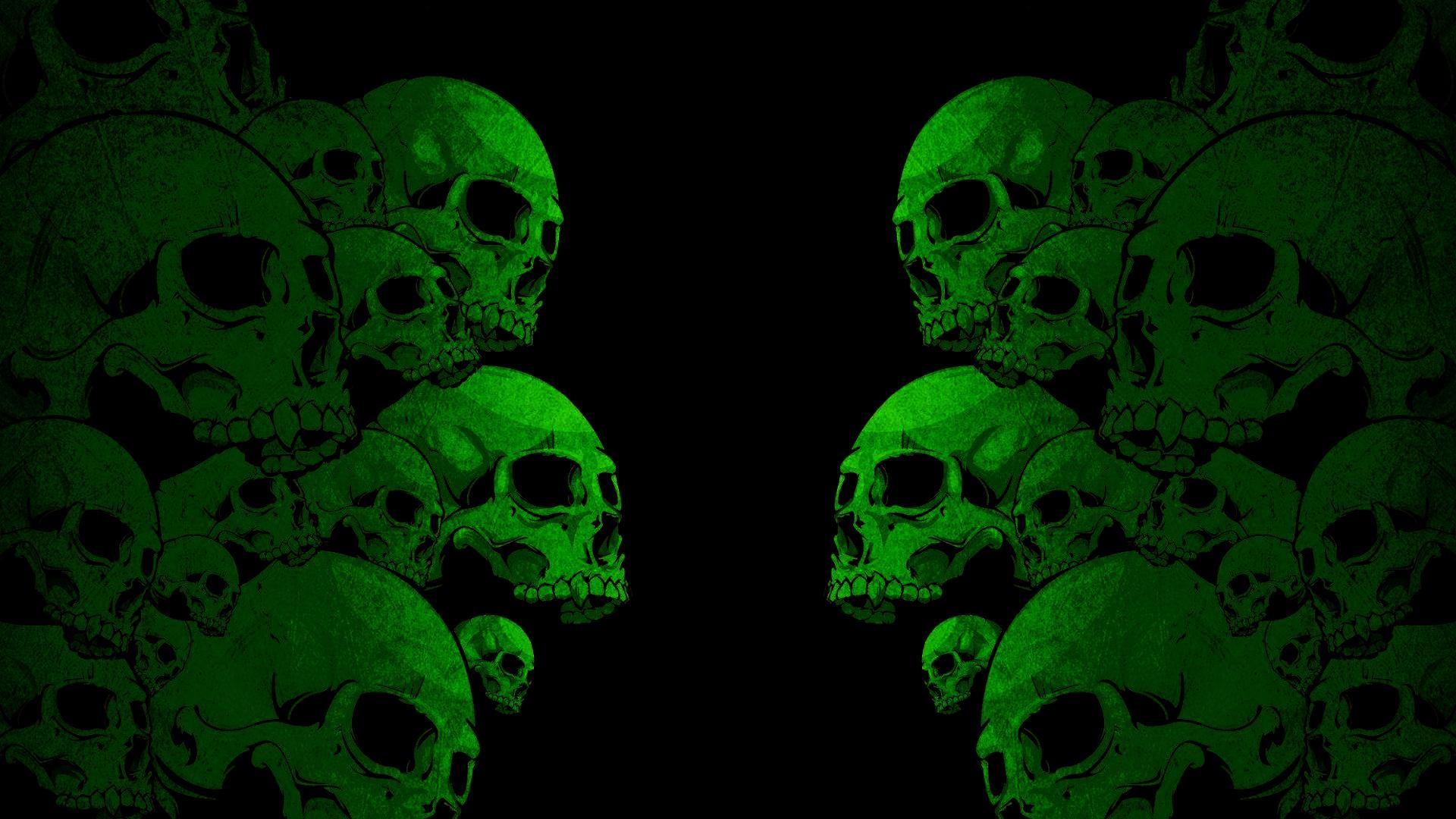 Images For Green Skull Wallpaper Hd 1920x1080