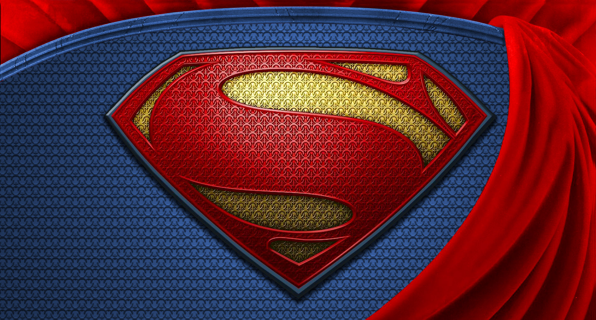 Superman Man Of Steel Wallpaper Logo HD by Super TyBone82 on 1900x1020