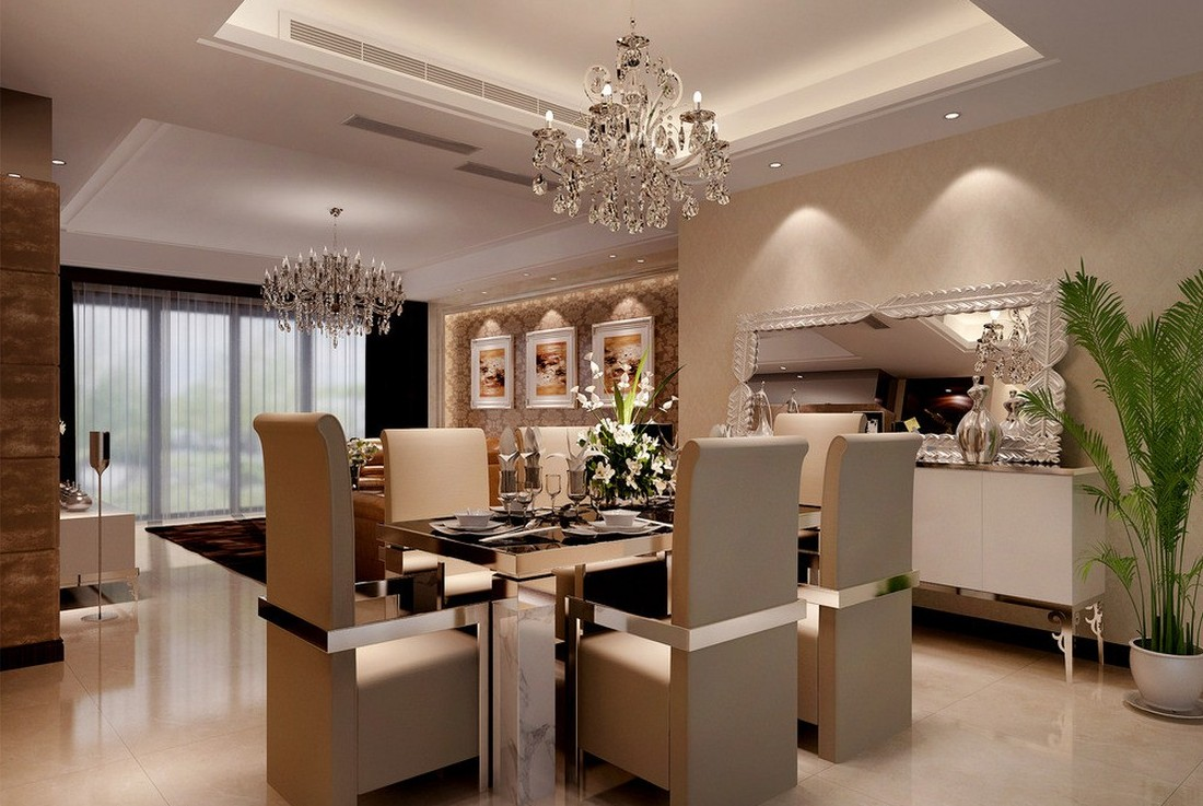 2015 Dining Room Interior Design 3D house 3D house pictures 1100x737