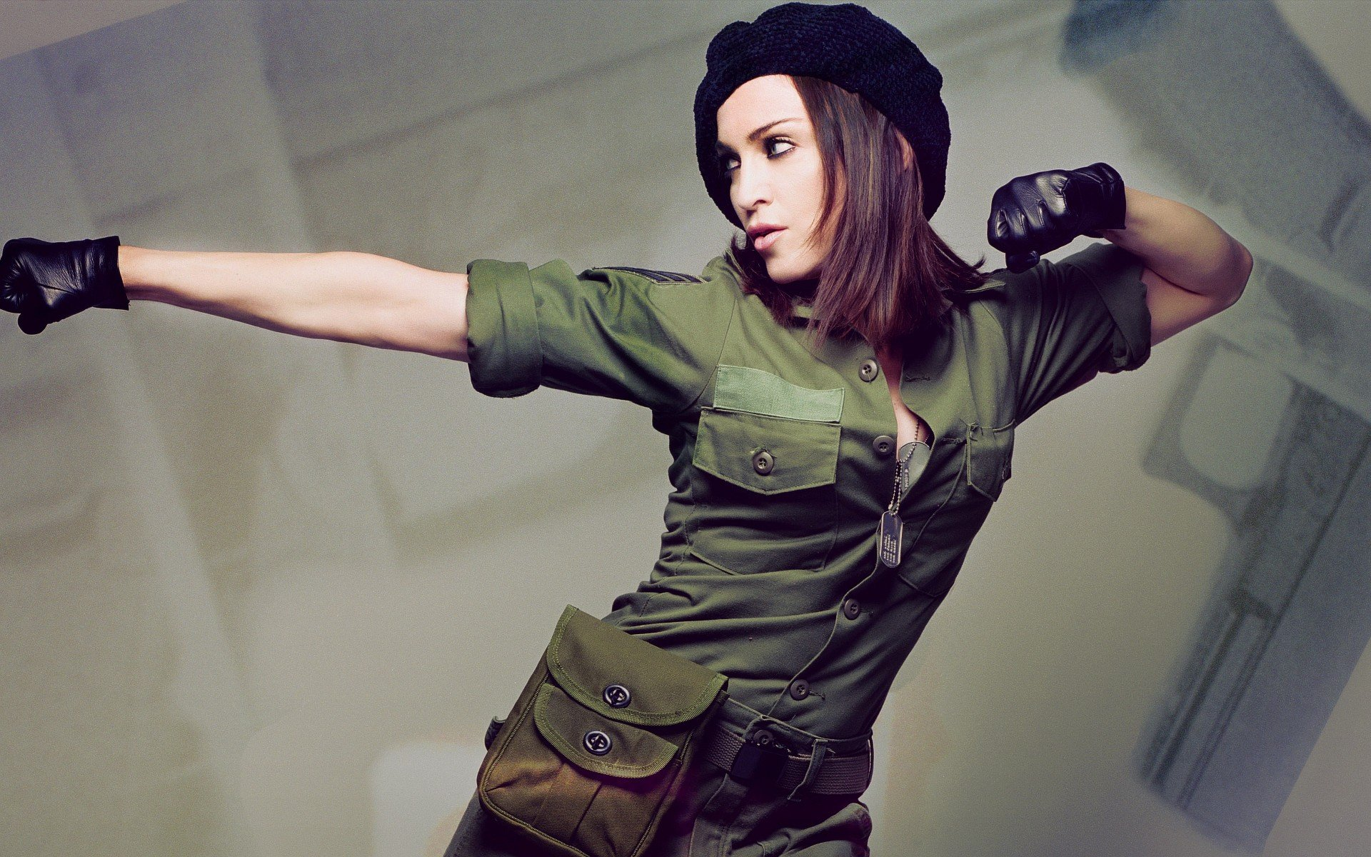 Wallpapers :: women, gloves, Madonna, singers, dog tags, military ...