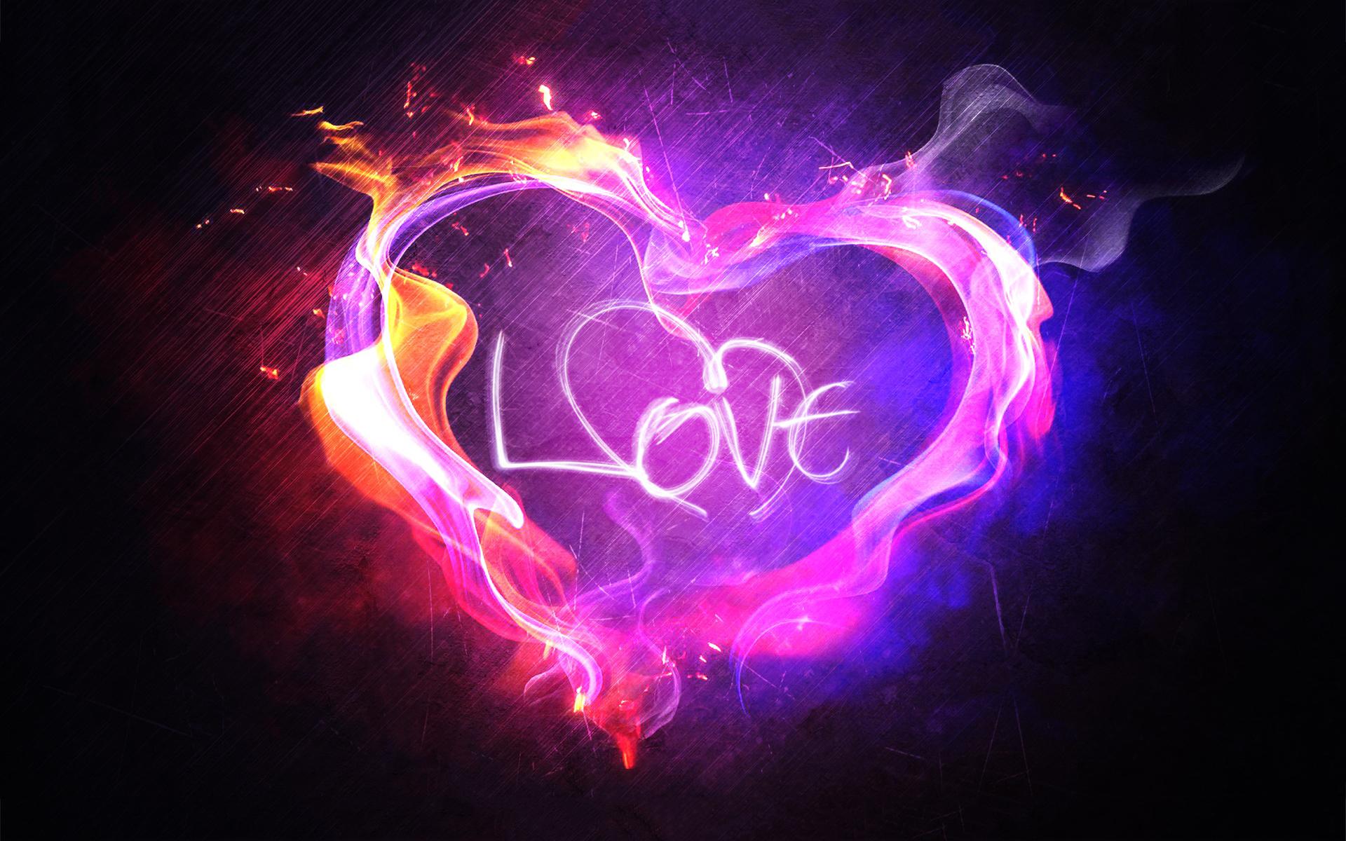 Heart love flame wallpaper 1920x1200 28033 1920x1200