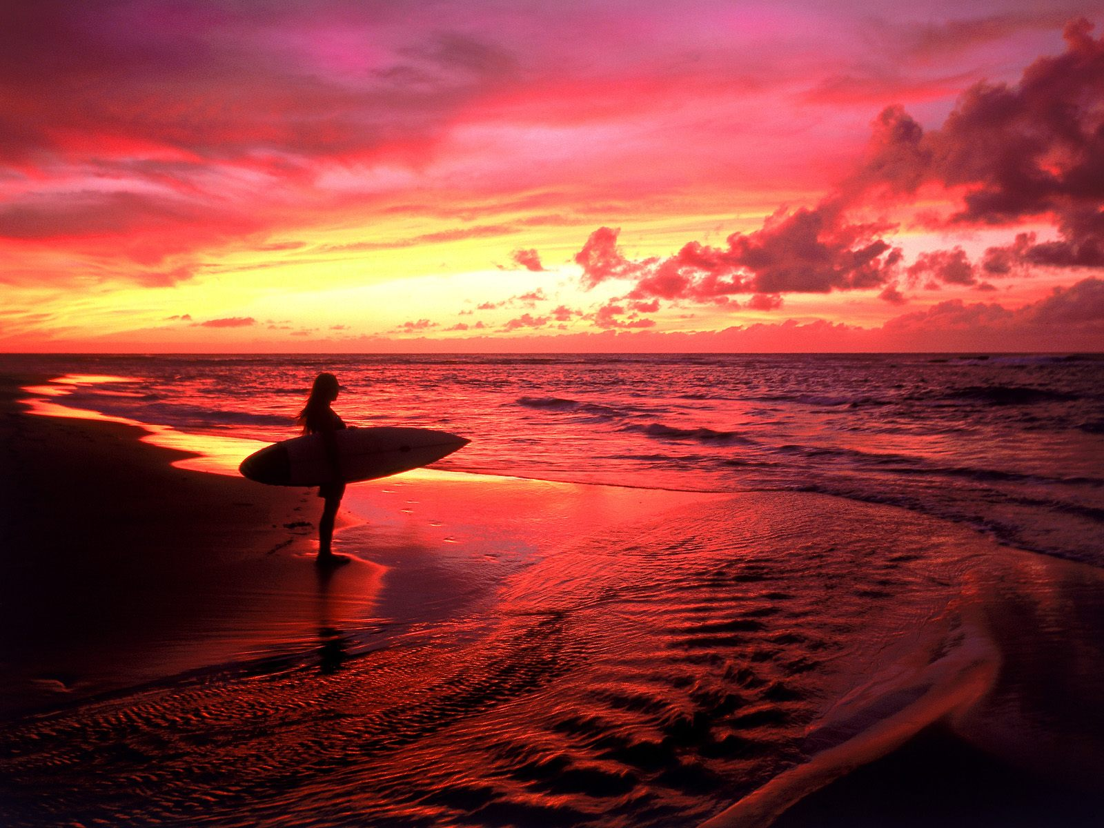 Surfer at Twilight Hawaii Wallpapers | HD Wallpapers