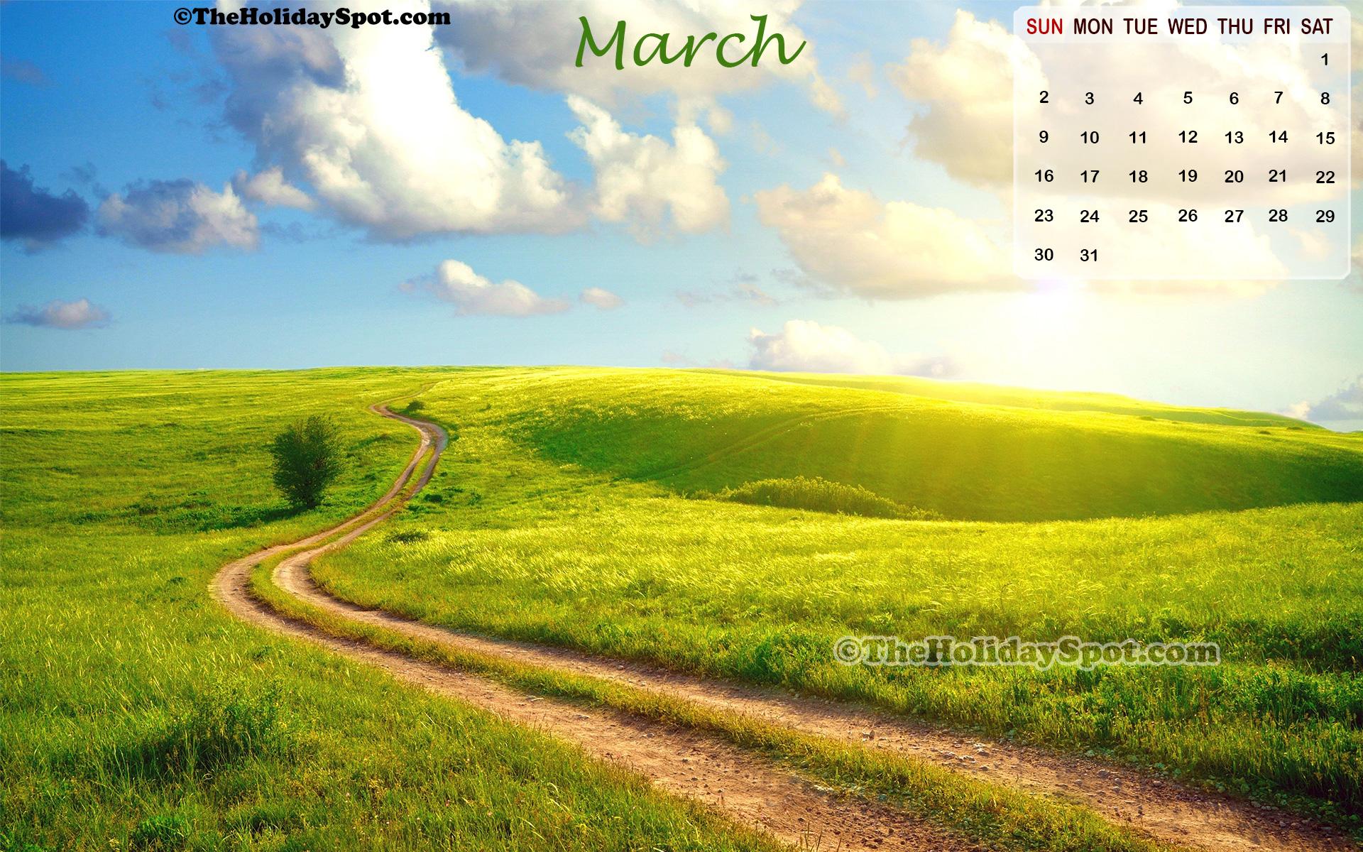 High resolution calendar wallpaper of March 2014 featuring lustrous 1920x1200