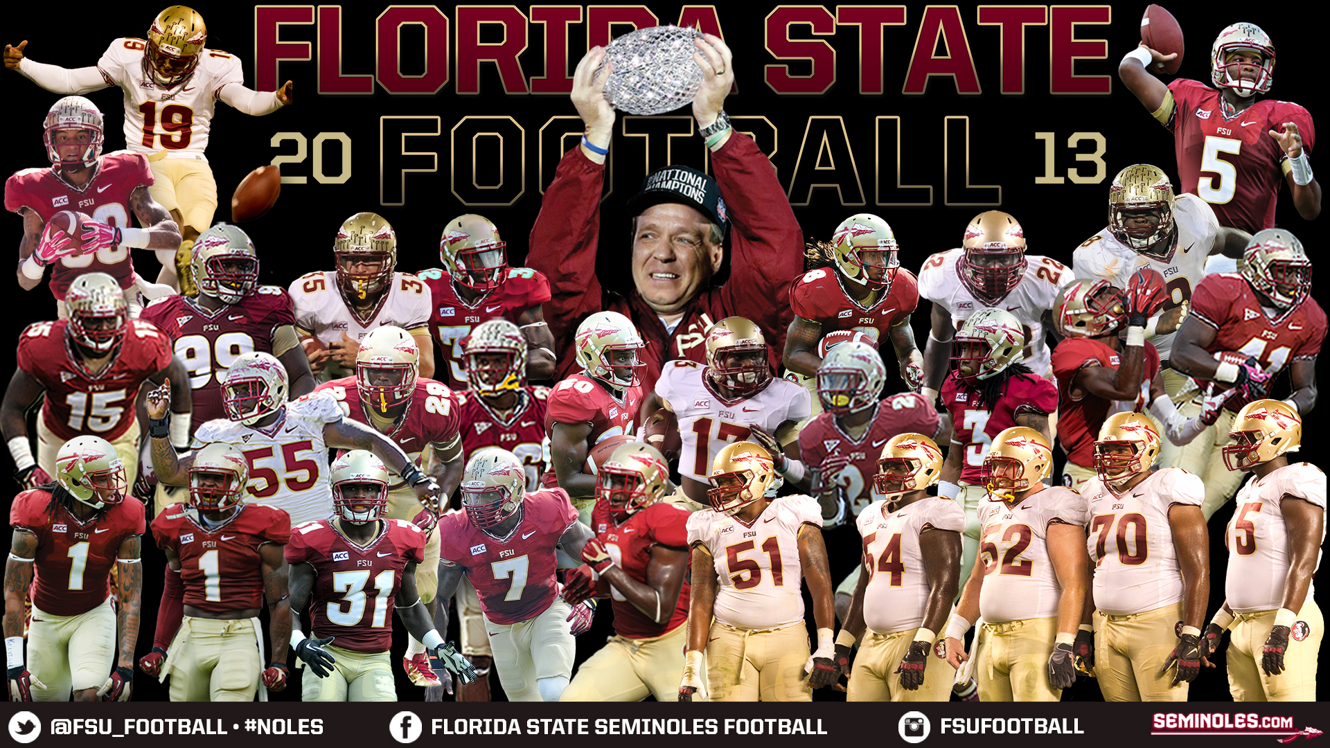 FSU Football National ChampionsRecord Breakers Football National 1920x1080