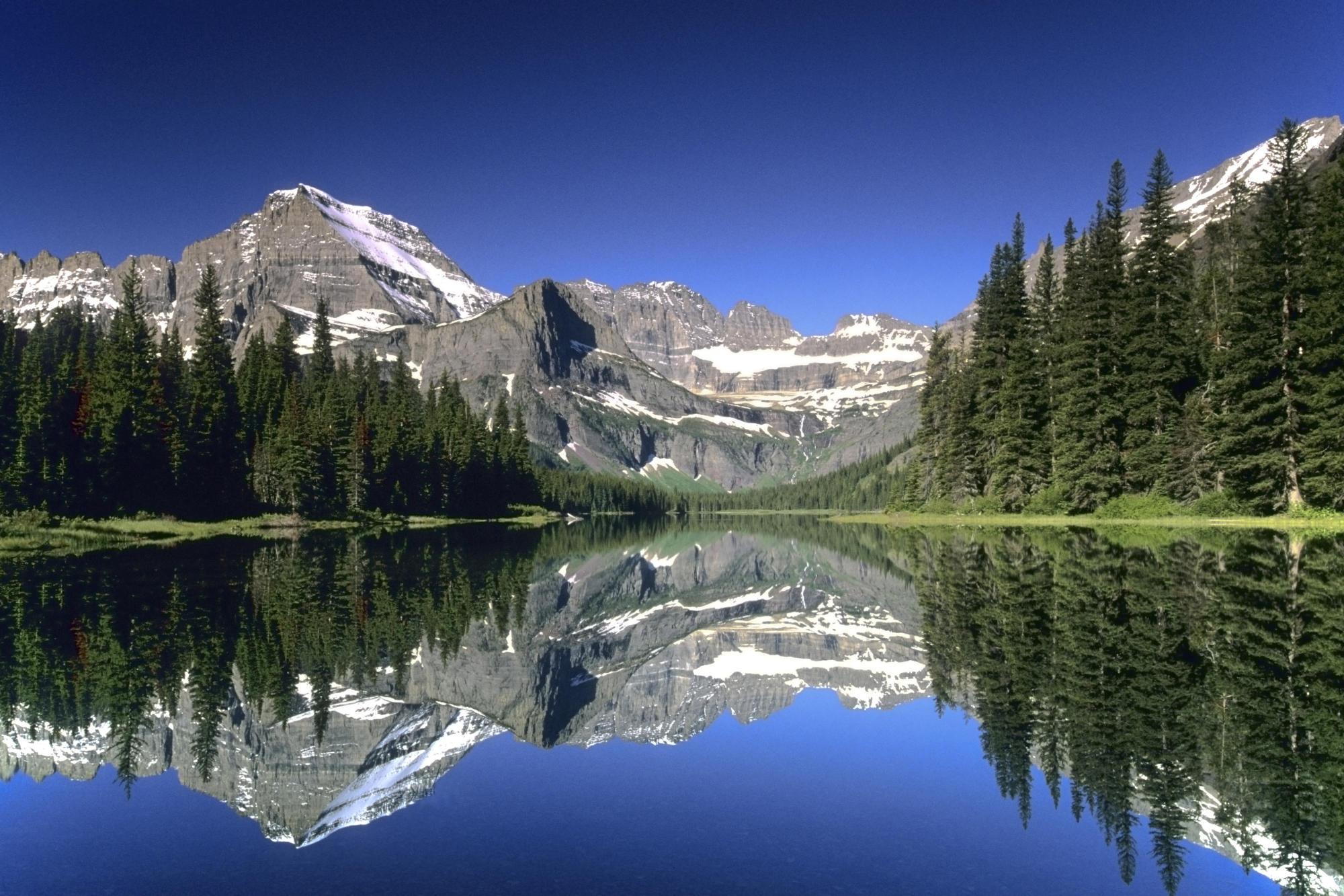 Lake Josephine Mt Gould Glacier National Park Montana 2000x1333