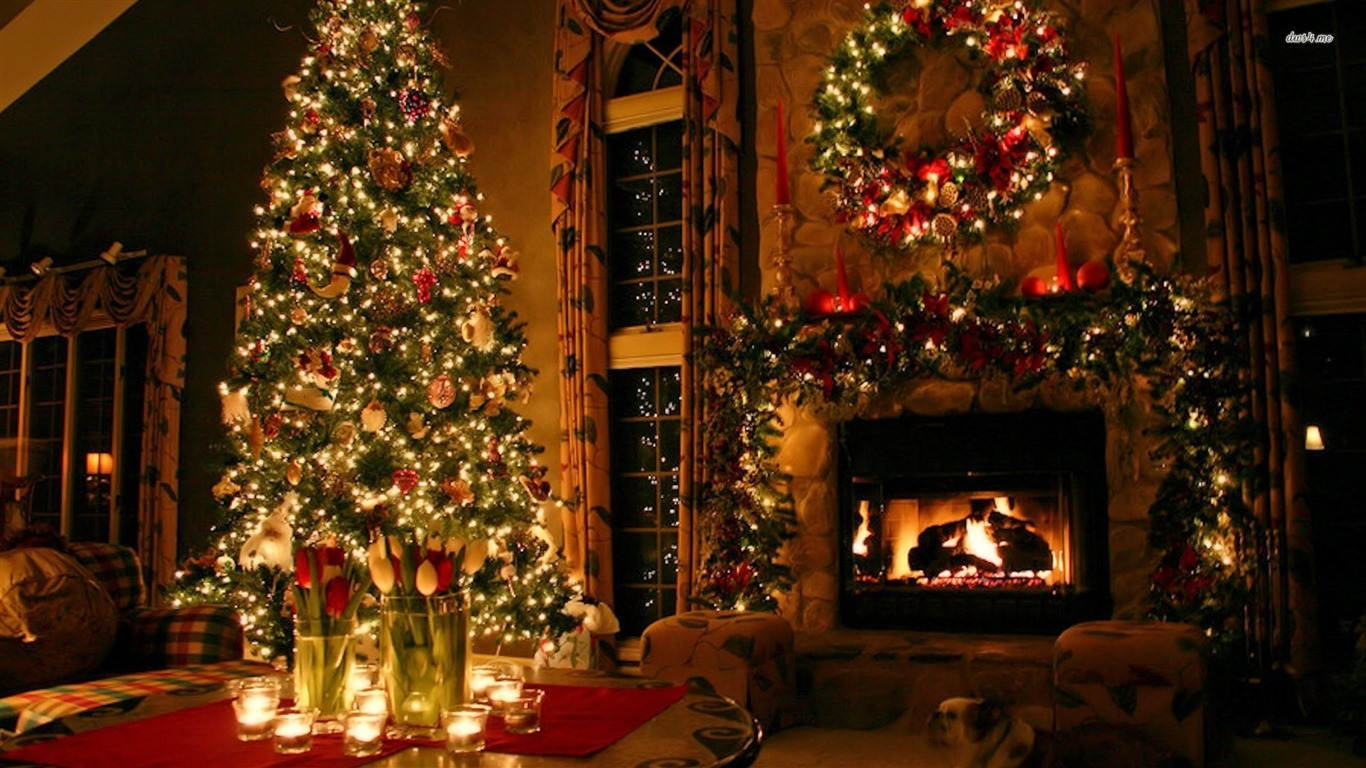 Christmas holiday decoration wallpaper 1366x768jpg 1366x768