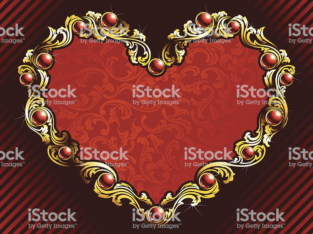 Elegant Valentine Background With Rubies Stock Illustration 1024x768
