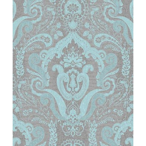 Damask Metallic Black Silver Wallpaper   Wallpaper Brokers Melbourne 600x600