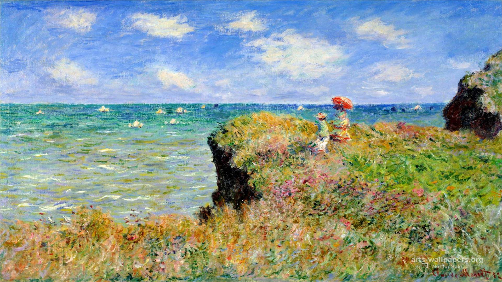 Claude Monet Wallpaper Paintings Desktop Art Backgrounds 1920x1080