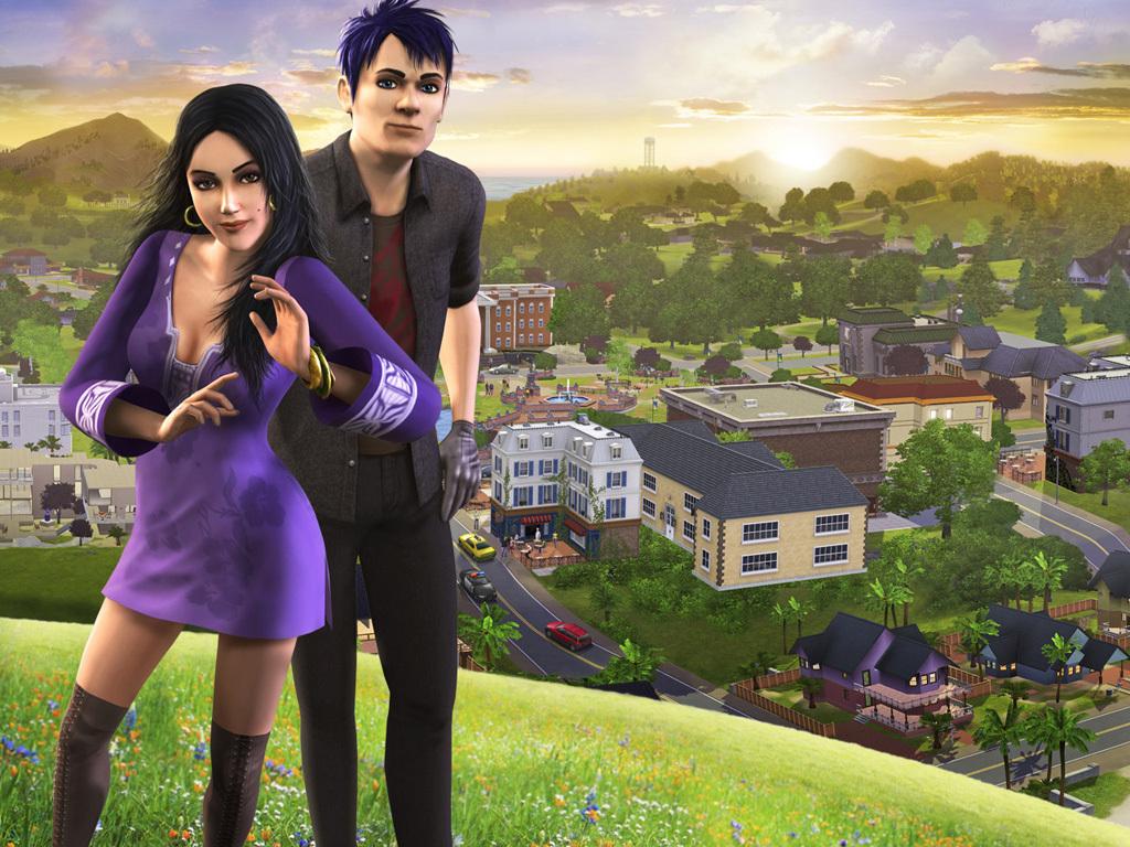 Screenshoturi The Sims 3 wallpaper pack 1024x768