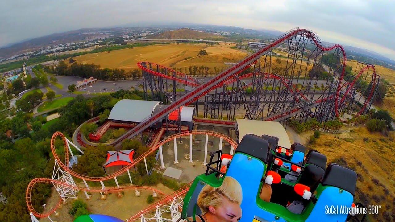 Viper Roller Coaster POV   Six Flags Magic Mountain 2015 1920x1080