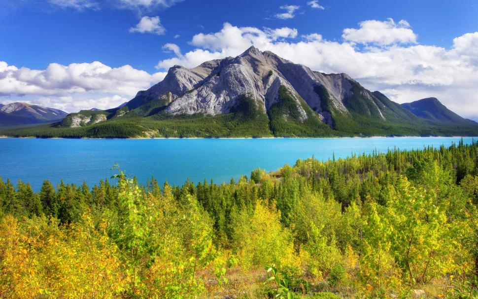 Abraham Lake Banff Park Alberta Canada sky mountain lake 970x606