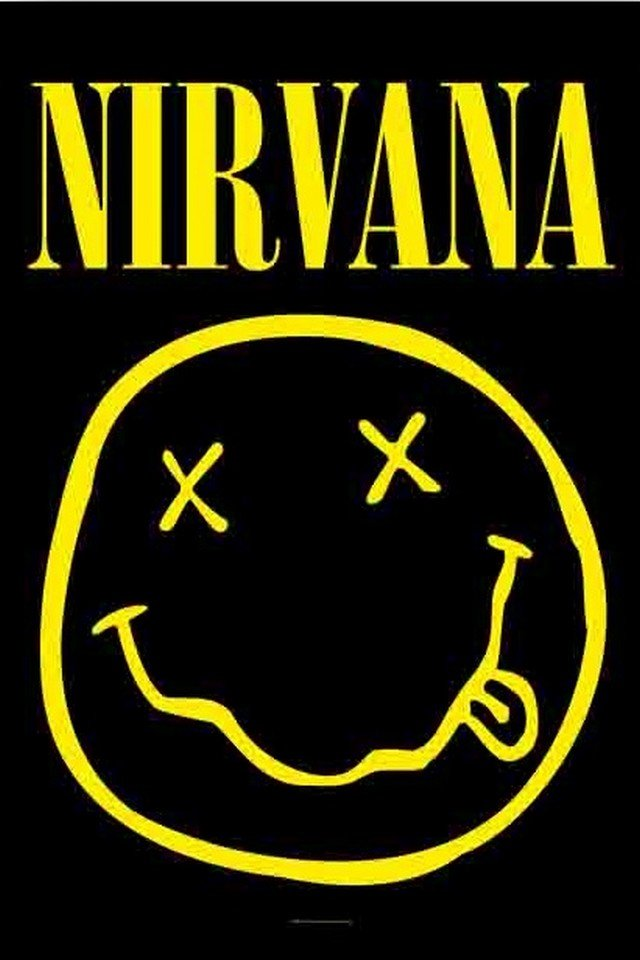 Download music wallpaper Nirvana with size 640x960 pixels for 640x960