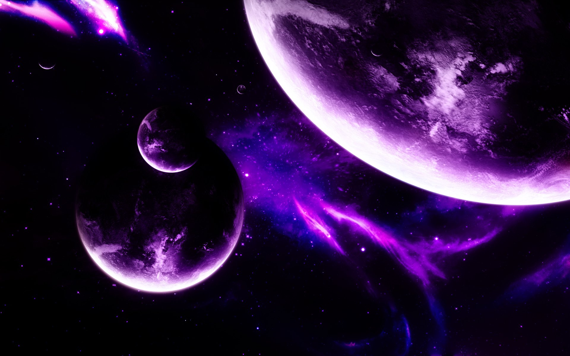 hd purple space wallpaper wallpapersafari