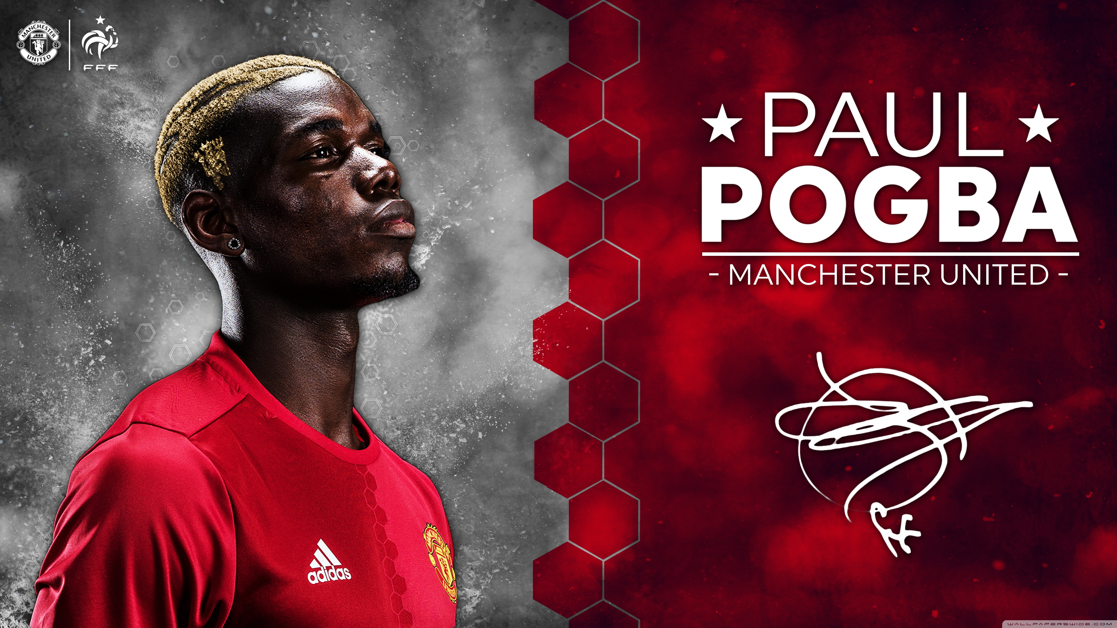 Paul Pogba Manchester United 2016 17 4K HD Desktop Wallpaper 3840x2160