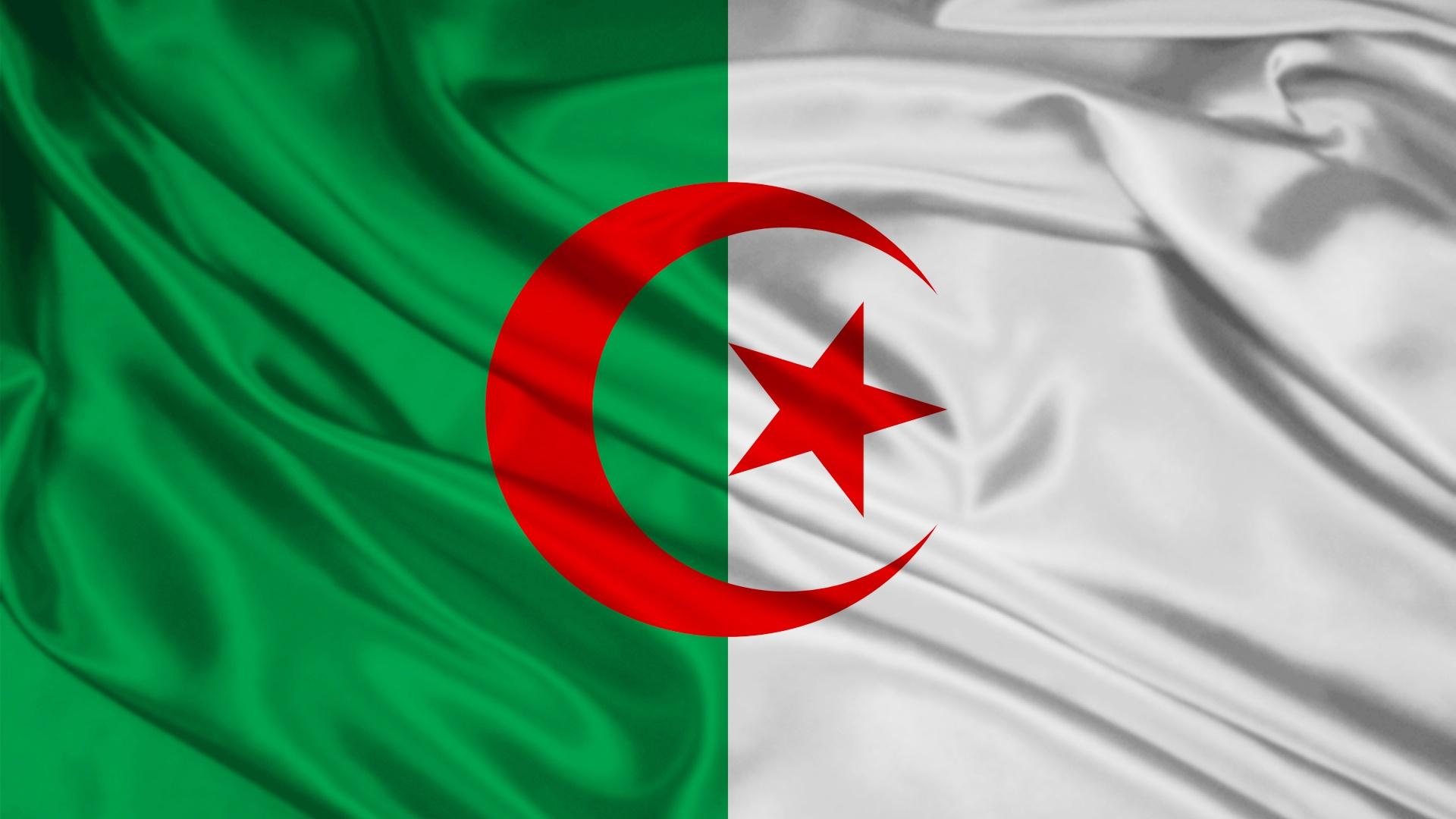 1920x1080 Algeria Flag desktop PC and Mac wallpaper 1920x1080