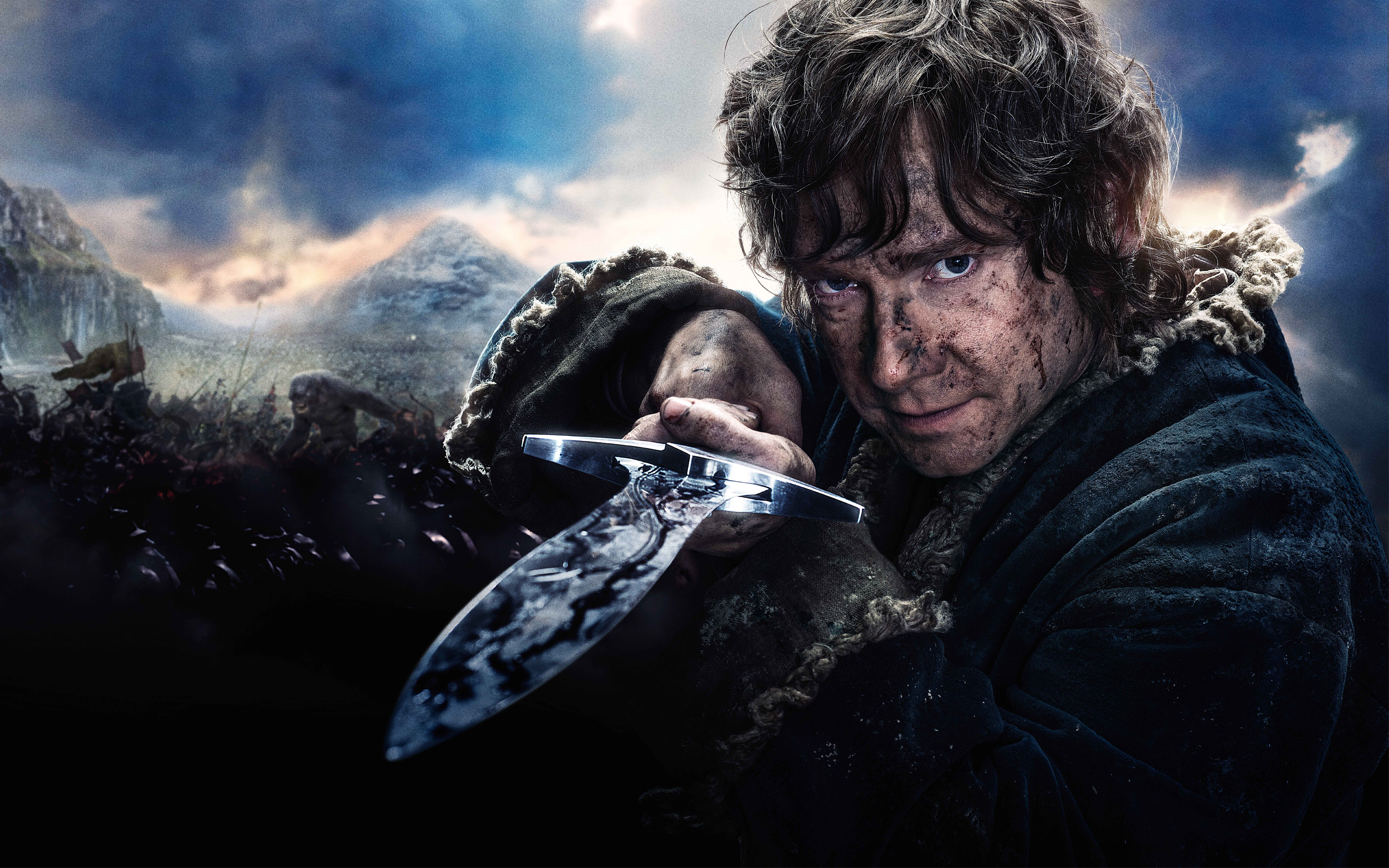 Bilbo Baggins in Hobbit 3 Wallpapers HD Wallpapers 2880x1800