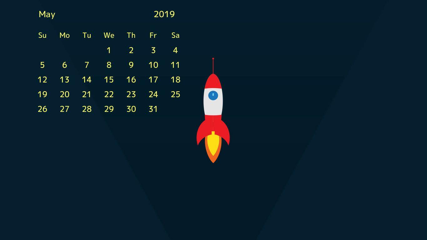 free may 2019 desktop wallpaper 2019 Calendars 2019 calendar 1366x768
