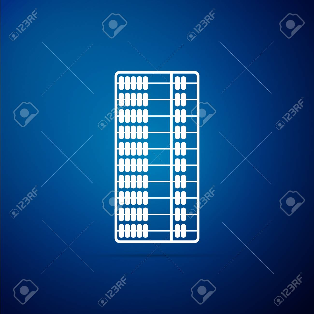 Abacus Icon Isolated On Blue Background Traditional Counting 1300x1300