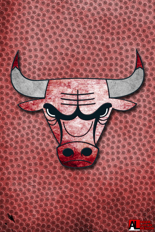 chicago bulls logo wallpaper desktop and iphone chicago bulls logo 640x960