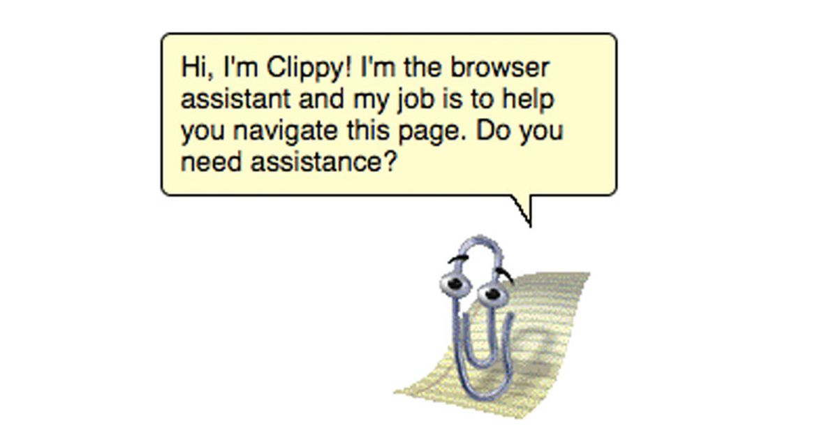Clippy is back and this time its coming for your browser 1200x630
