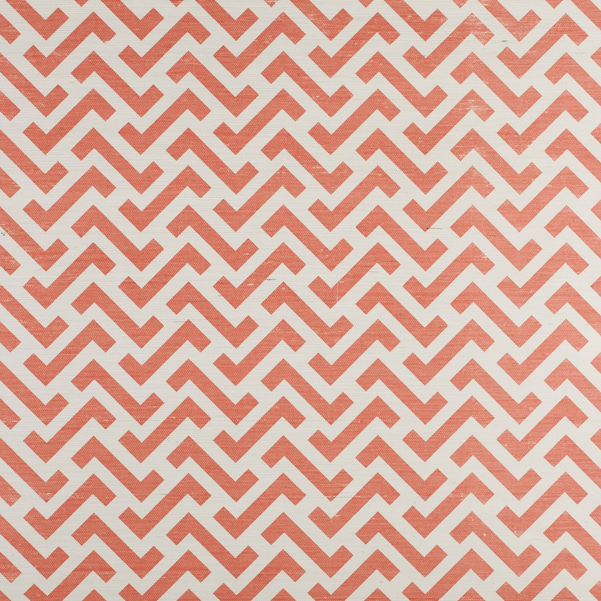 Block Zig Zag on Grasscoth  Salmon Pink Bernard Thorp Fabric and 1200x1200