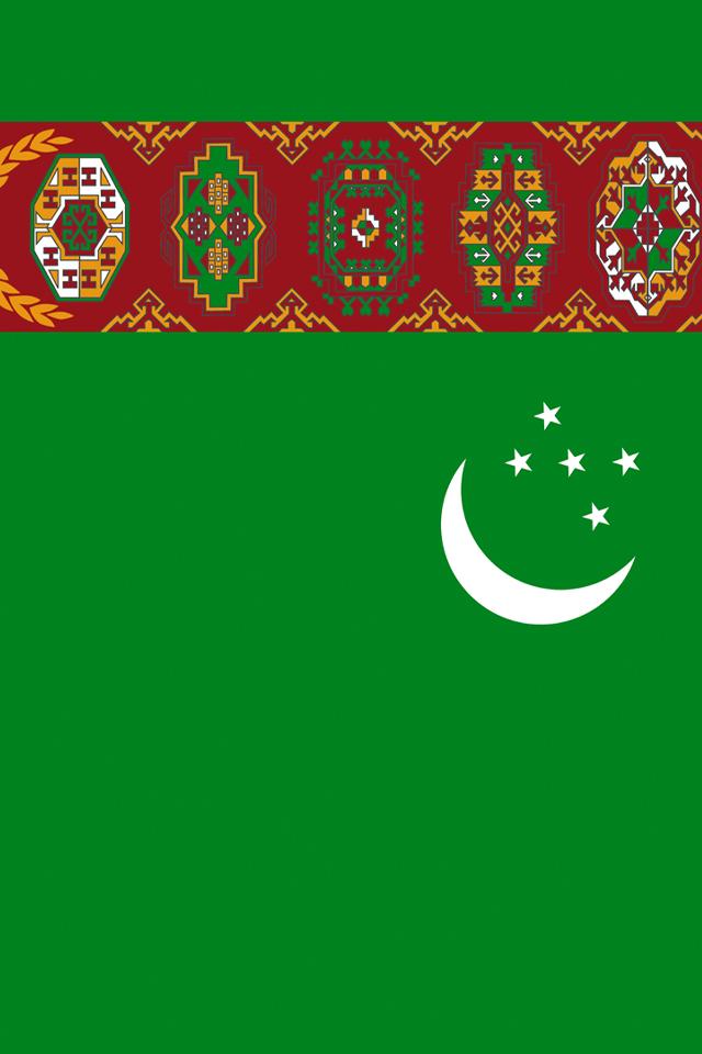 Turkmenistan Flag iPhone Wallpaper HD 640x960