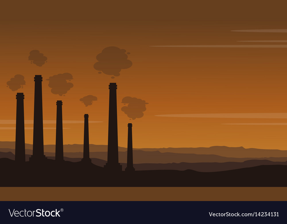 Bad environment pollution industry background Vector Image 1000x780