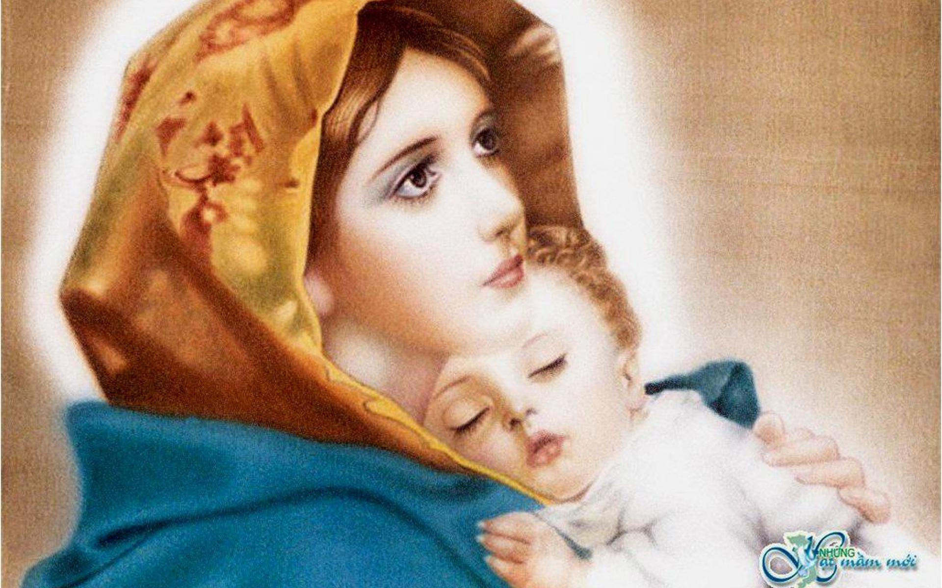 Mother Mary With Baby Jesus Wallpaper - WallpaperSafari