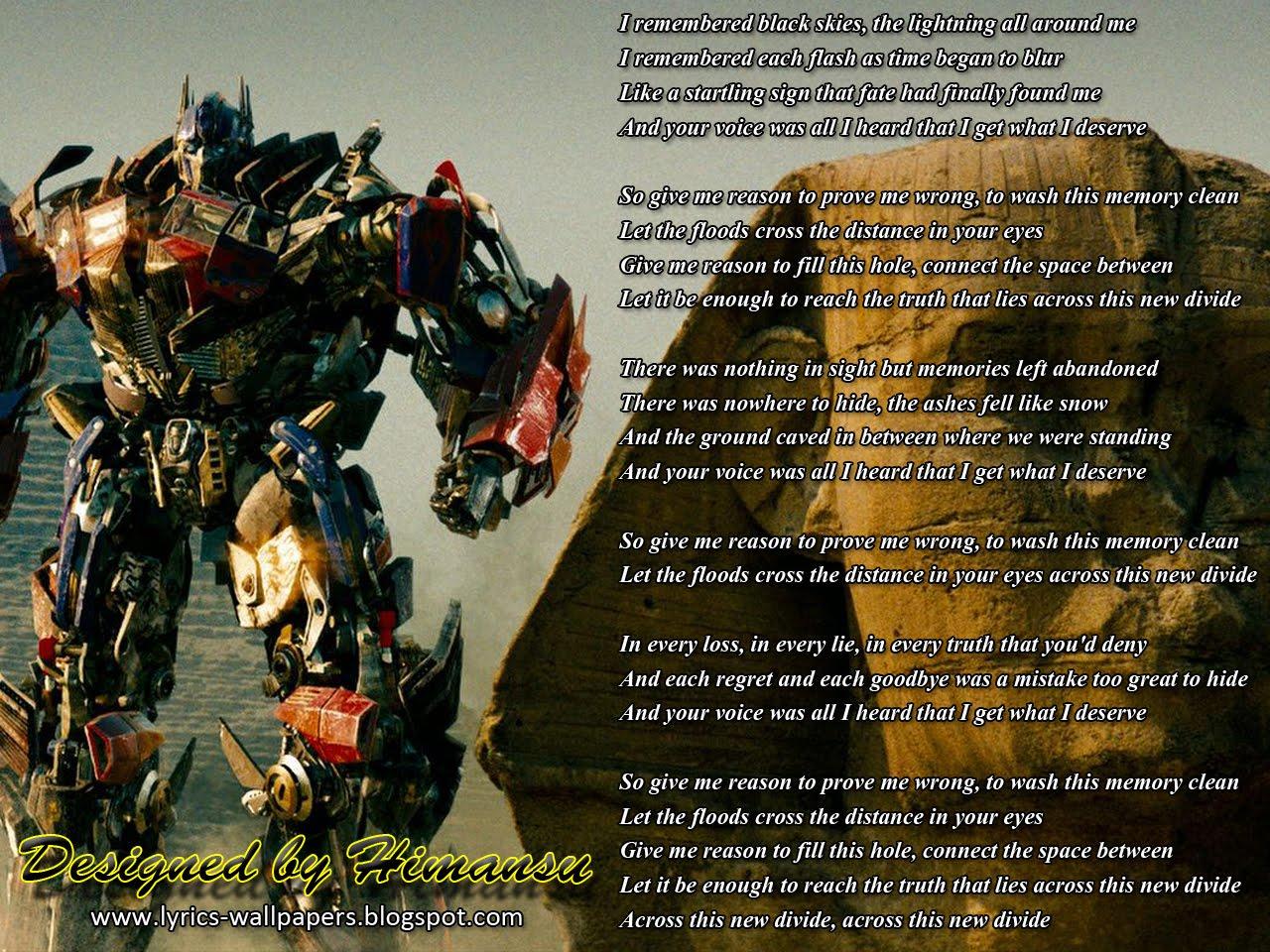 Lyrics Wallpapers   Linkin Park   New Divide 1280x960