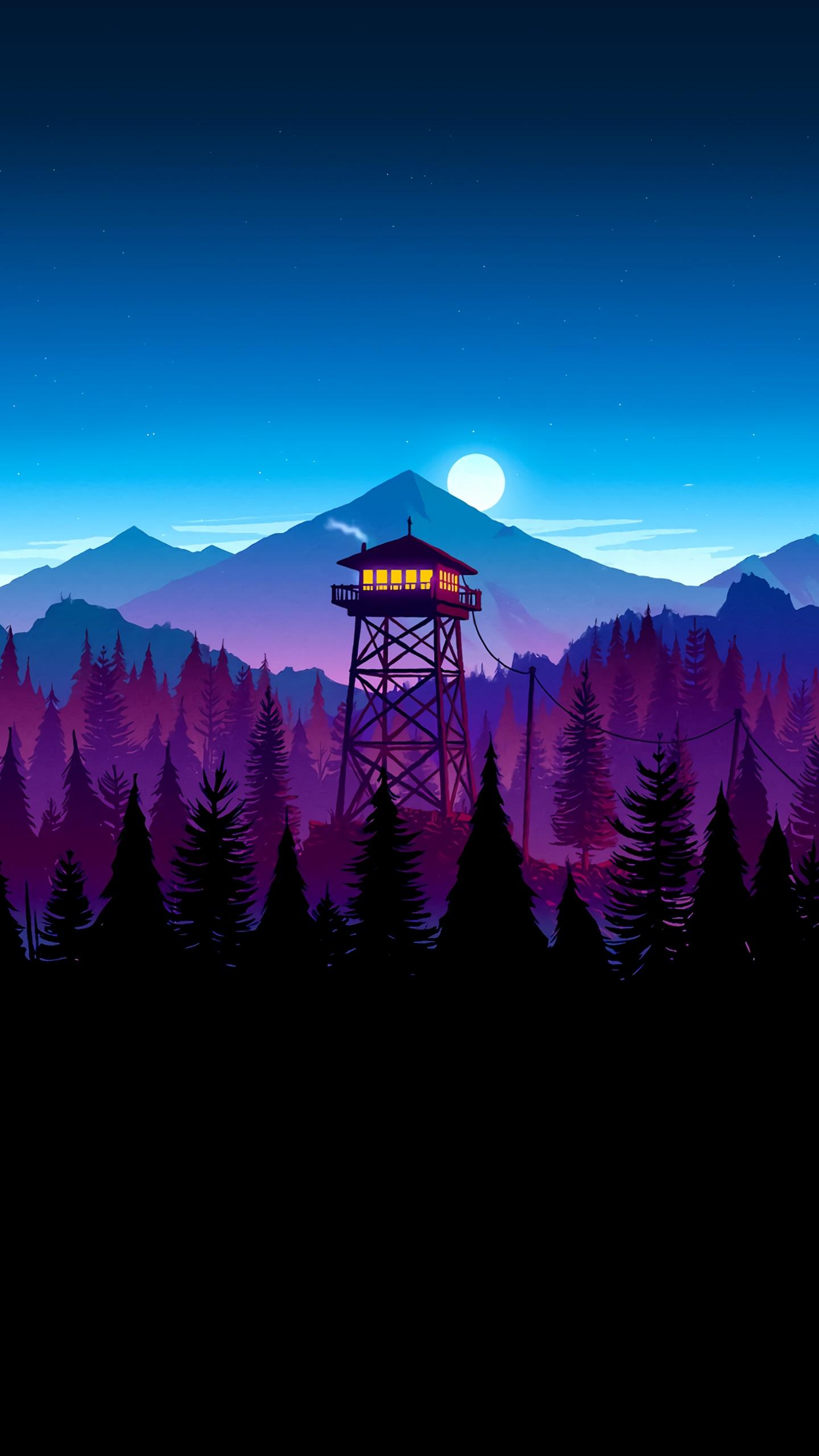 Really nice firewatch phone background gaming 1440x2560