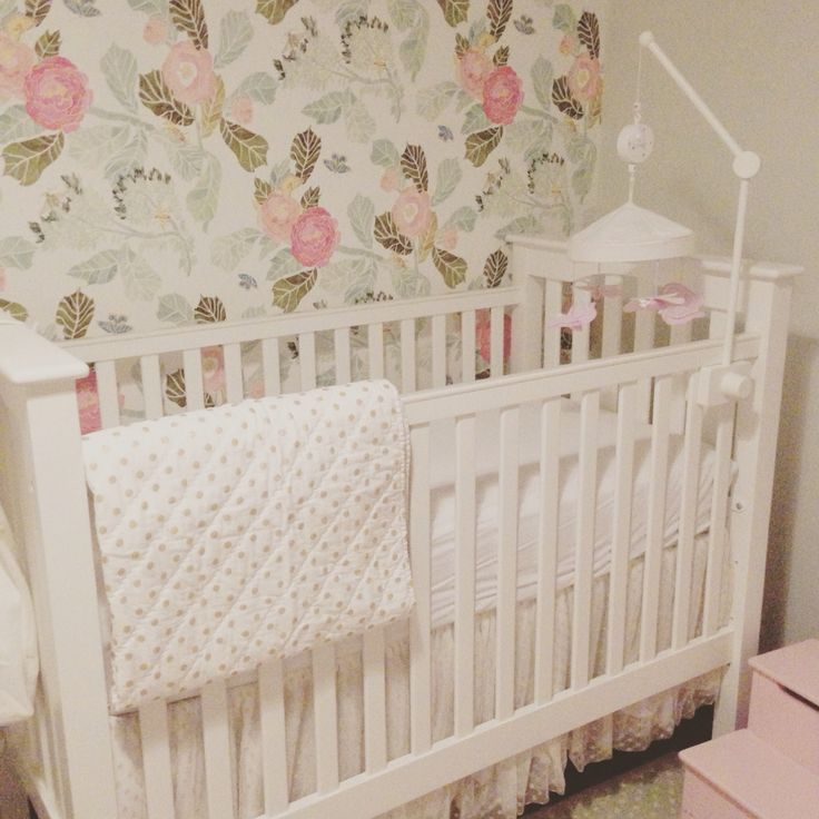 Baby Girl Wallpaper: Peony Wallpaper Anthropologie Baby Room