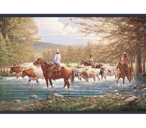 Western Wallpaper Border eBay 500x438