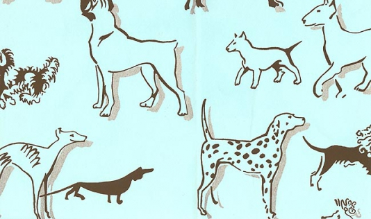 Dog Print Wallpaper Best in show wallpaper 534x316