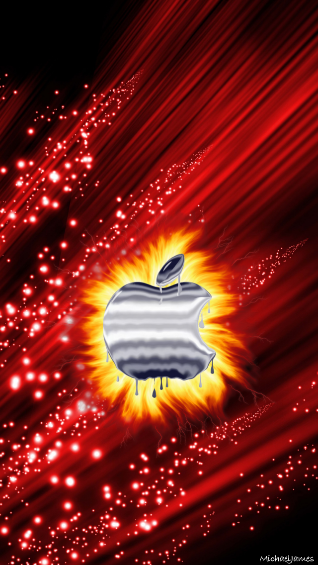 Fire Apple 640 x 1136 Wallpapers available for download in 640x1136