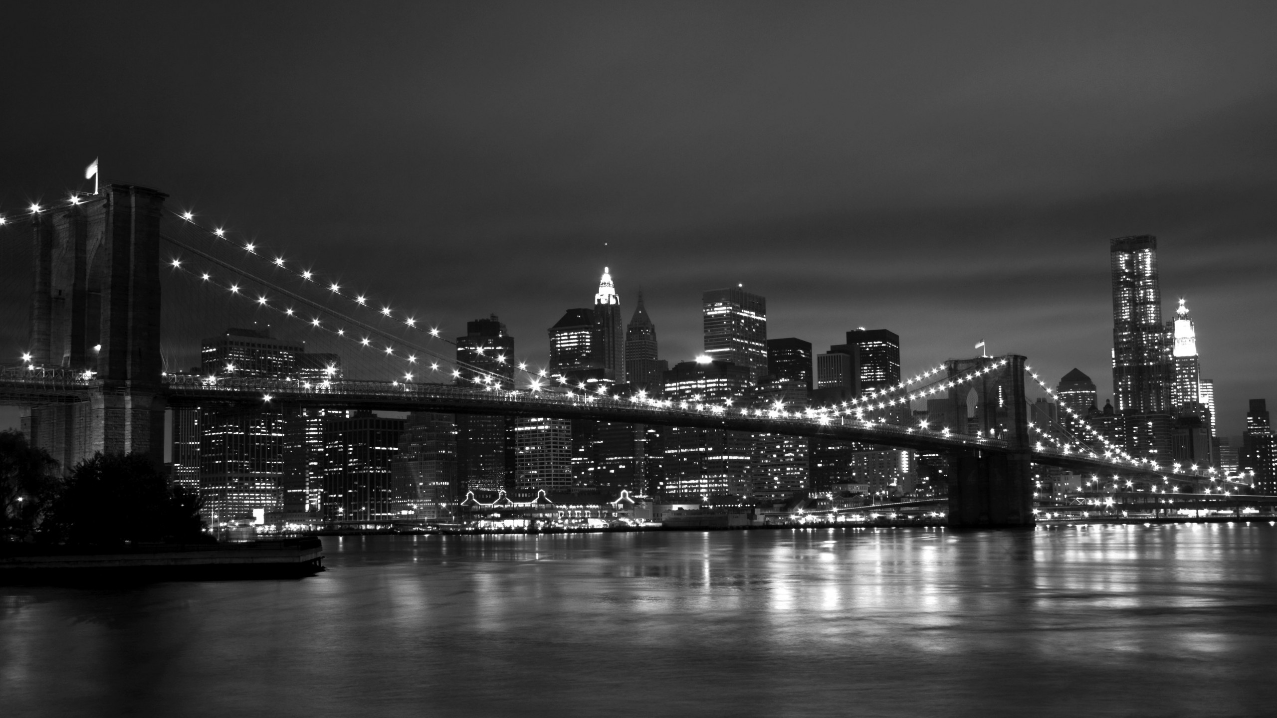 New York Skyline Black And White wallpaper   1106189 2560x1440