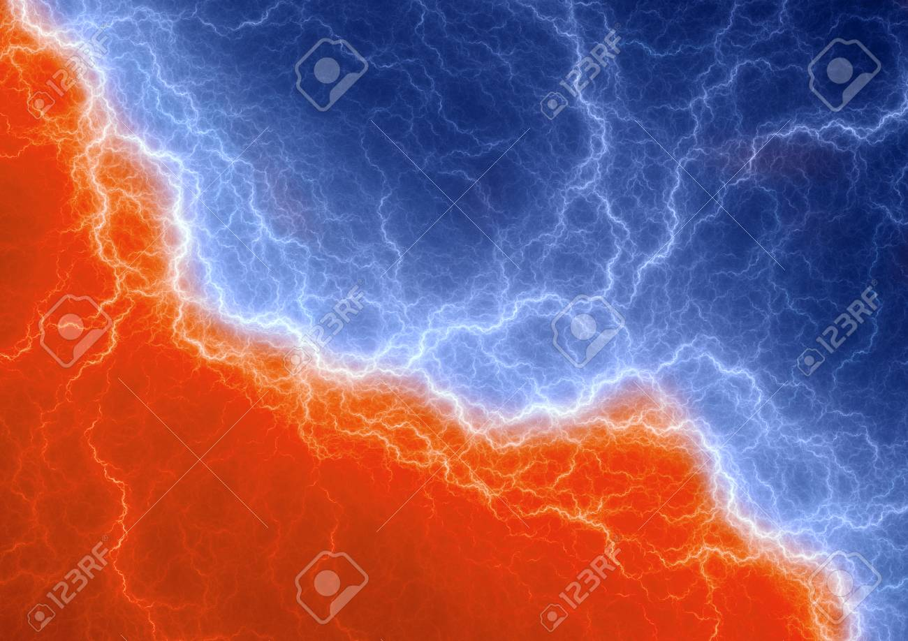 Fire And Ice Abstract Lightning Background Clash Of The Elements 1300x918