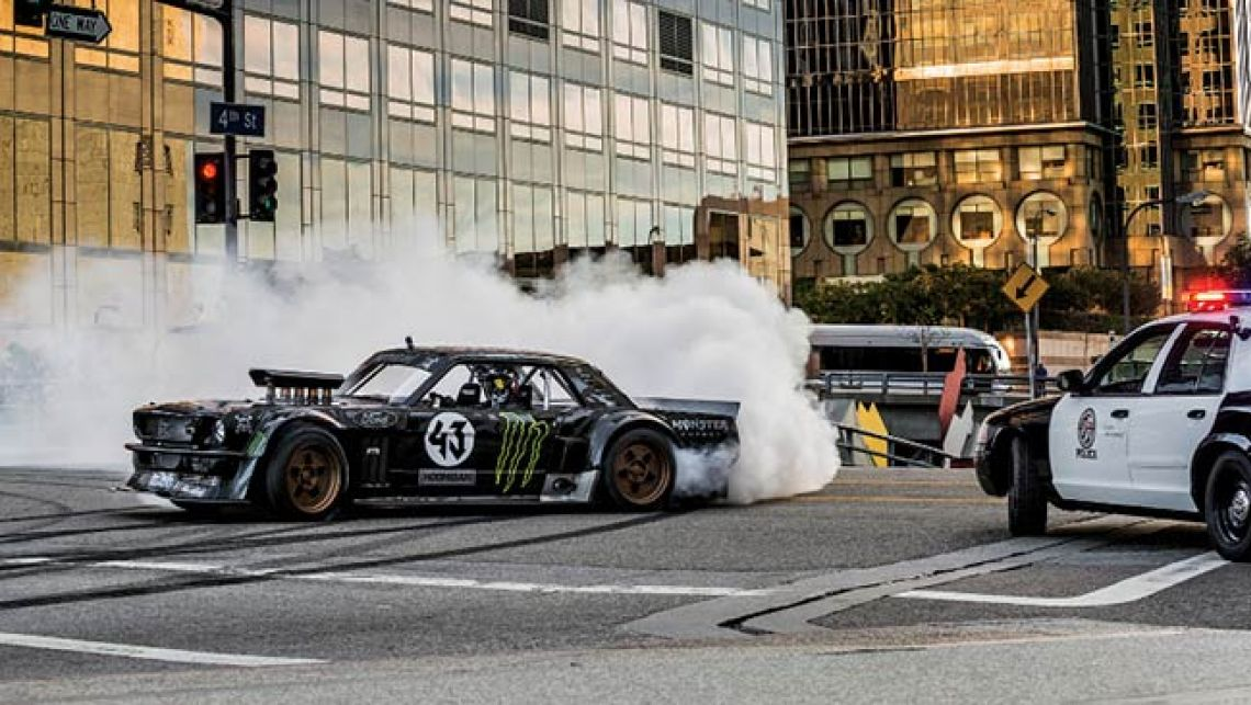 Gymkhana 7 opens in an industrial warehouse with Block introducing the 1140x643
