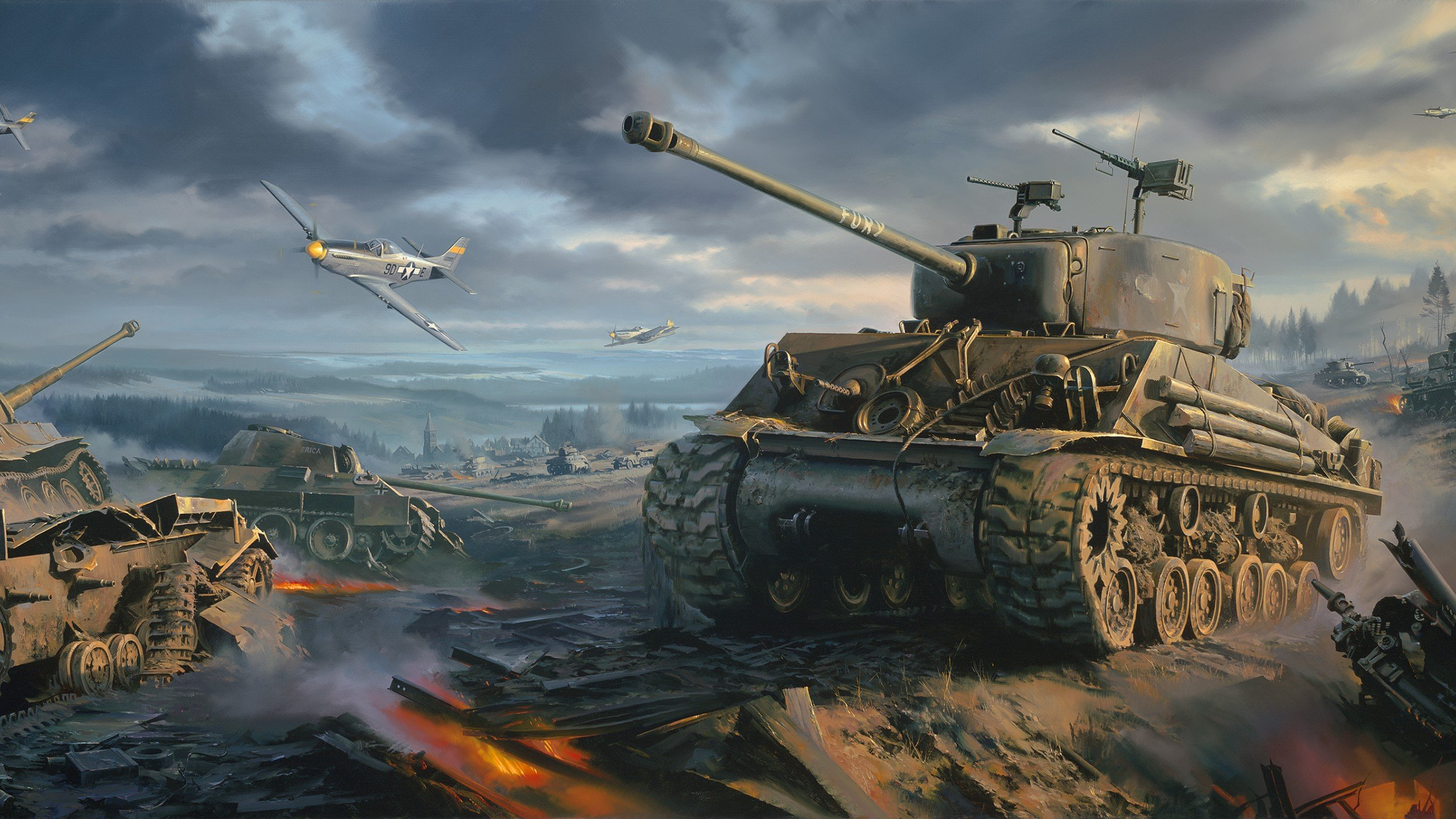 Sherman Tank Wallpaper Wallpapersafari