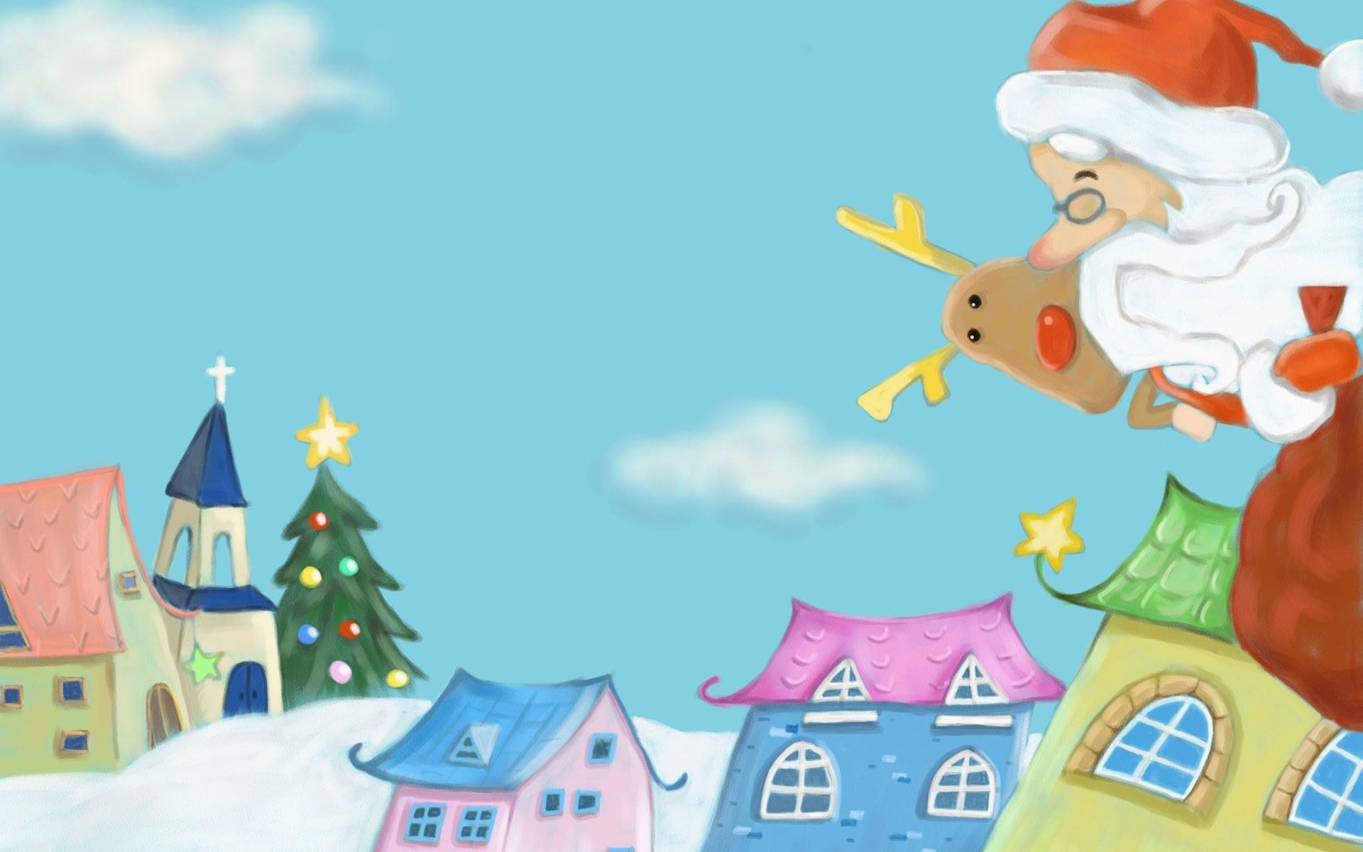 Cute Cartoon Christmas Wallpaper Wallpapersafari