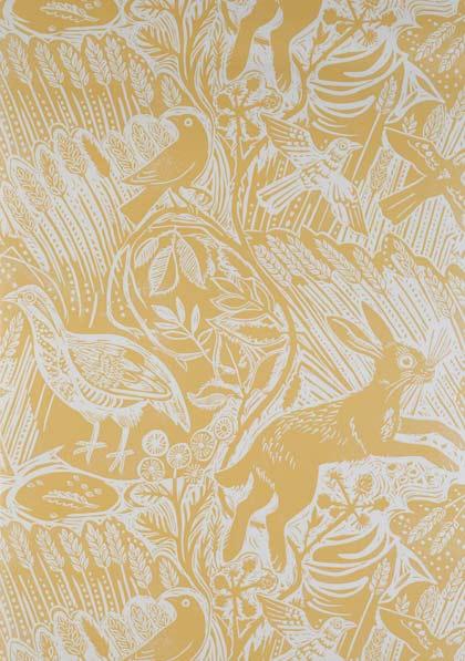 Harvest Hare Wallpaper by Mark Hearld St Judes 420x597